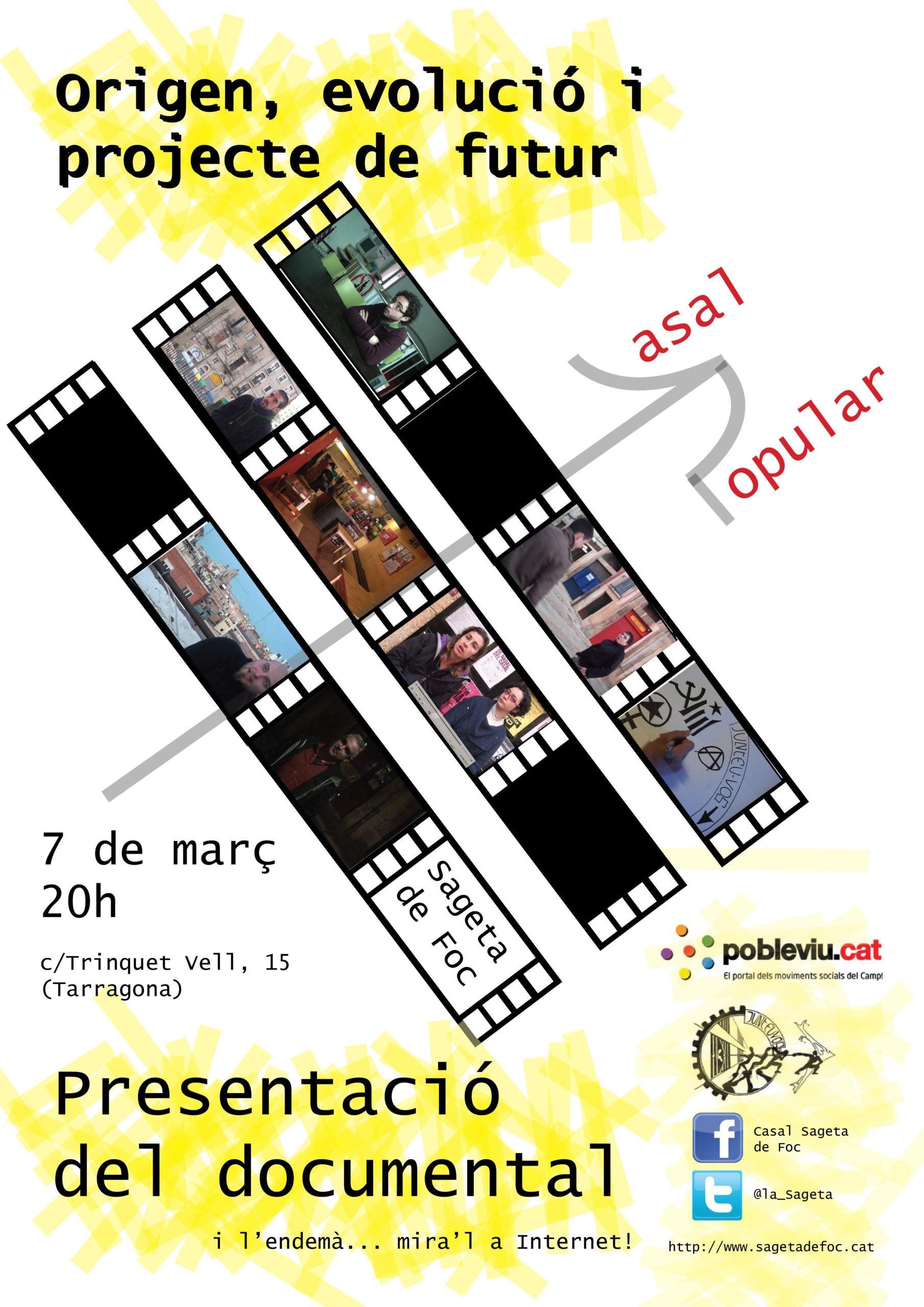 Cartell presentació documental