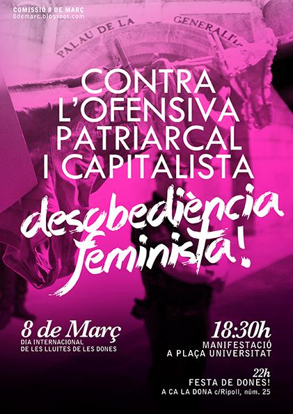 Cartell 8 de març Barcelona