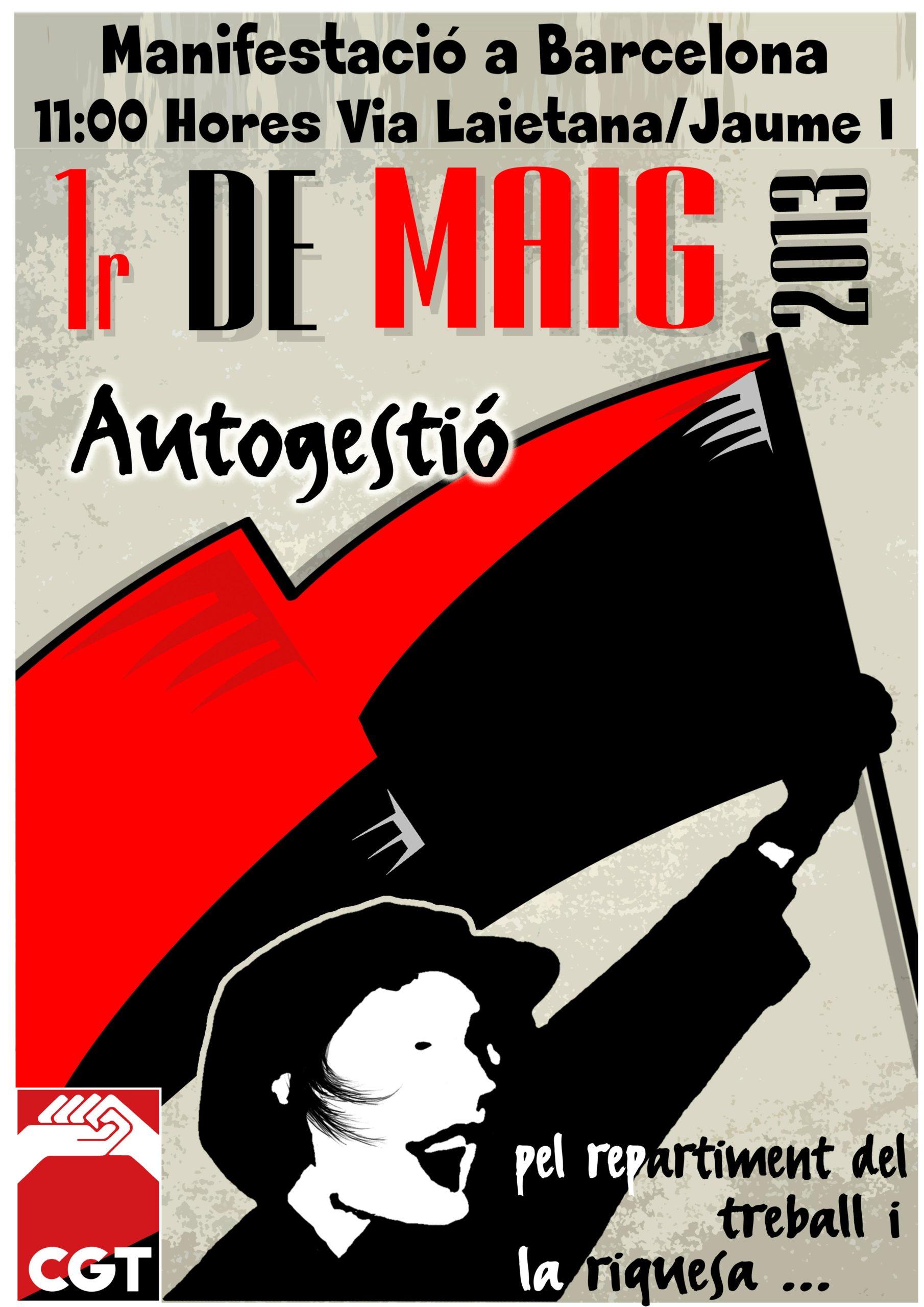 Cartell 1 de maig 2013 CGT Barcelona