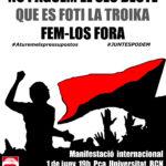 Cartell CGT 1 juny Barcelona manifestació no paguem el seu deute