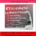 Cartell presentació escola llibertària