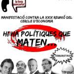 Cartell 1 juny Sitges manifestació contra reunió Cercle d'Economia