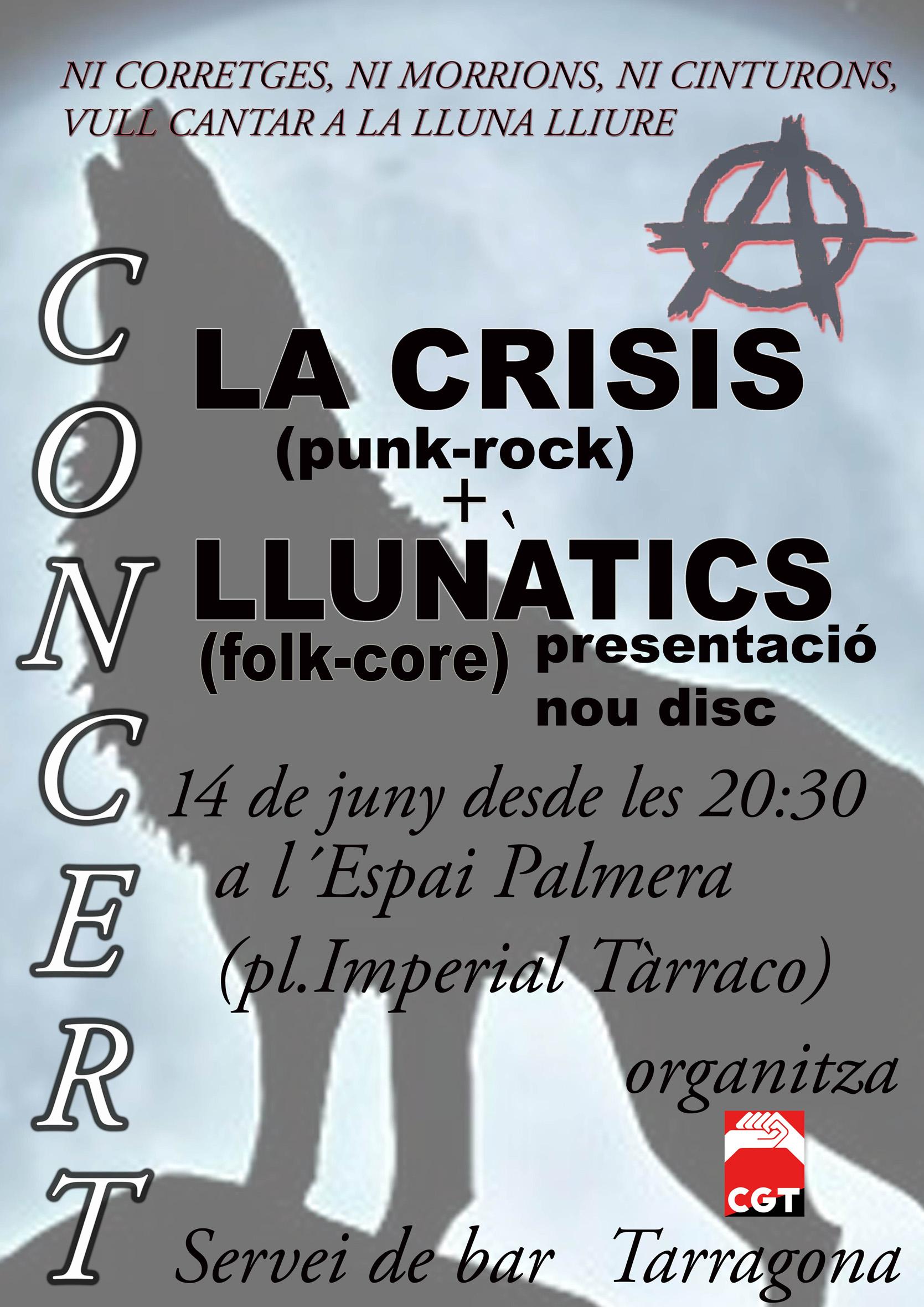 Cartell concert Tarragona