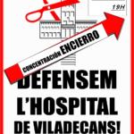 Cartell tancada hospital Viladecans