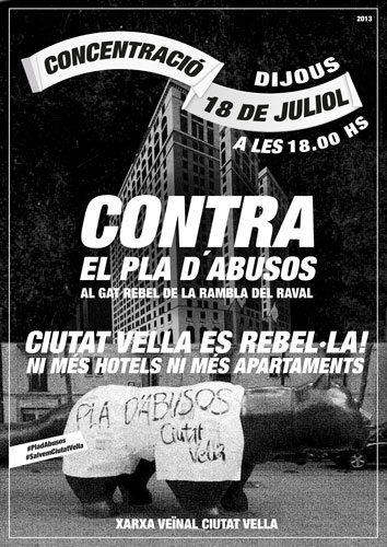 Cartell 18 juliol Contra el Pla d'AbUsos