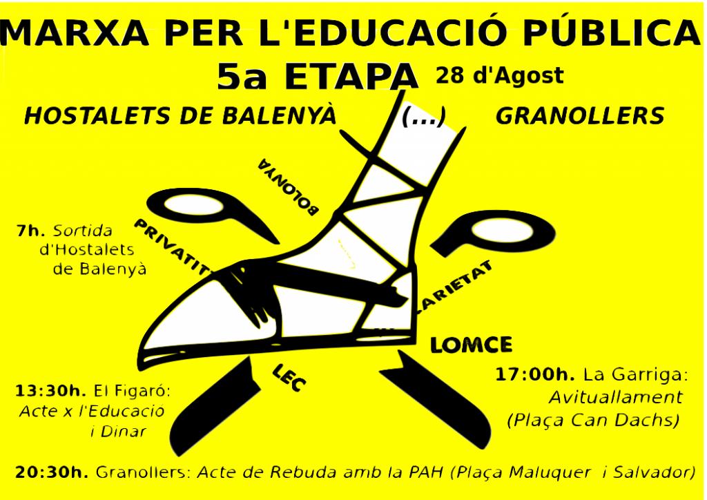 Cartell actes Marxa Educació al Vallès Oriental