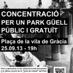 Cartell concentració Park Güell