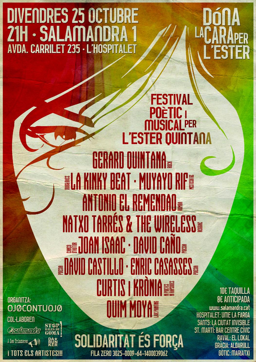 Cartell concert solidari Ester Quintana