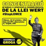 Concentració 10 d'octubre seu PP Barcelona