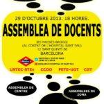 Cartell assemblea docents 29 d'octubre