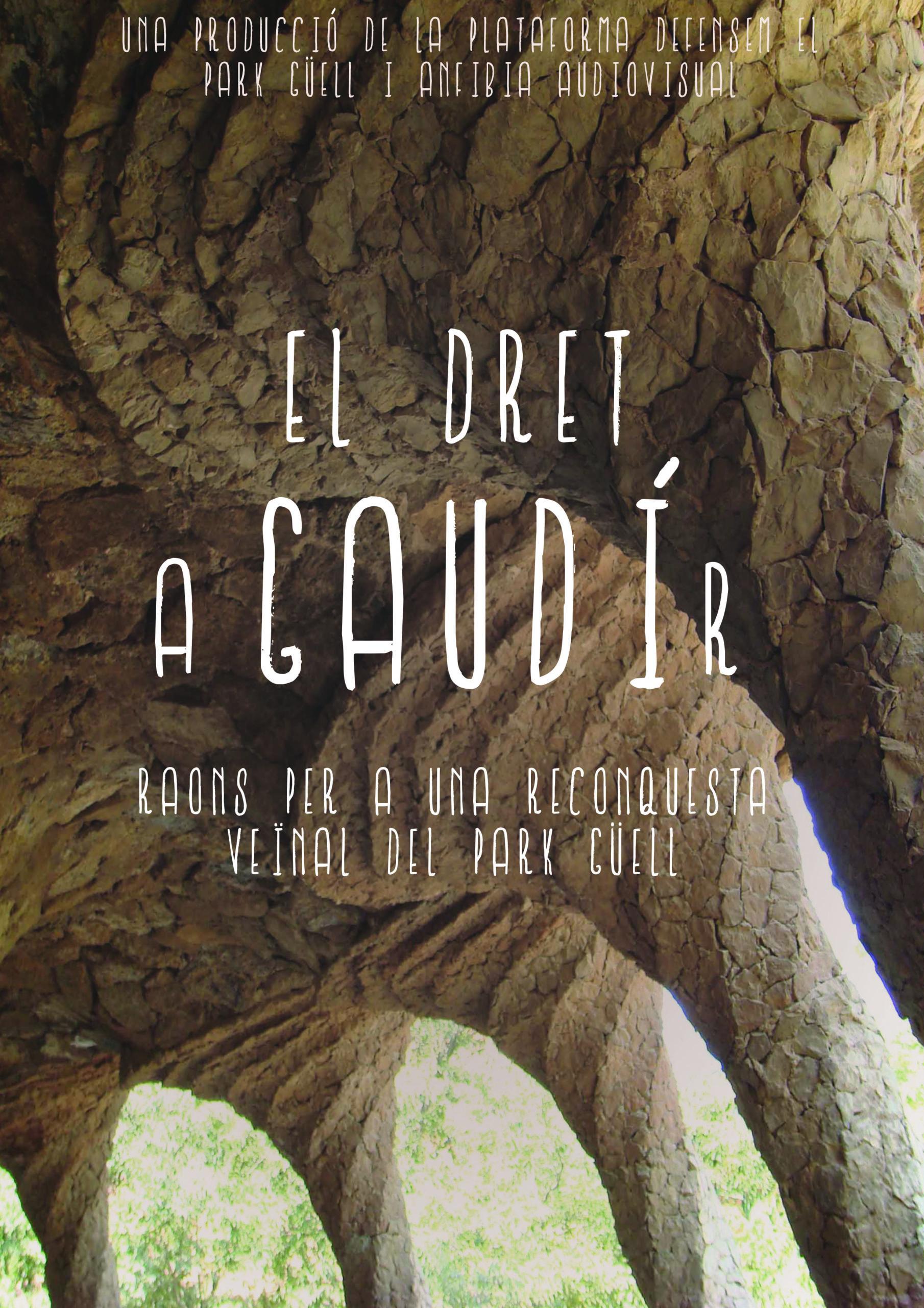 Cartell Dret a Gaudi(r)
