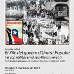Cartell xerrada Xile