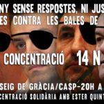 Concentració solidaritat Ester Quintana