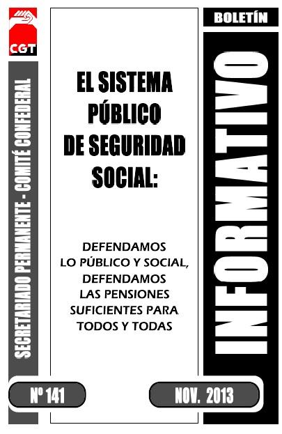 Butlletí Informatiu nº 141: El sistema públic de Seguretat Social