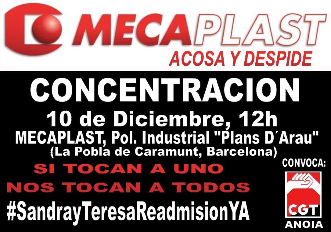 Cartell concentració 10 desembre Mecaplast