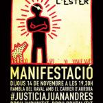 Manifestació Justícia Juan Andrés Benítez