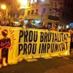 Pancarta capçalera manifestació