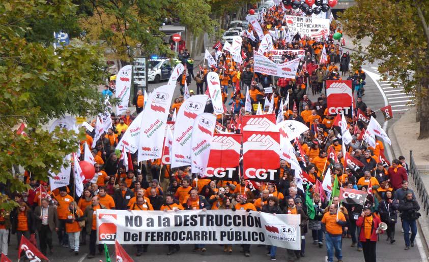 Capçalera manifestació 30N Madrid