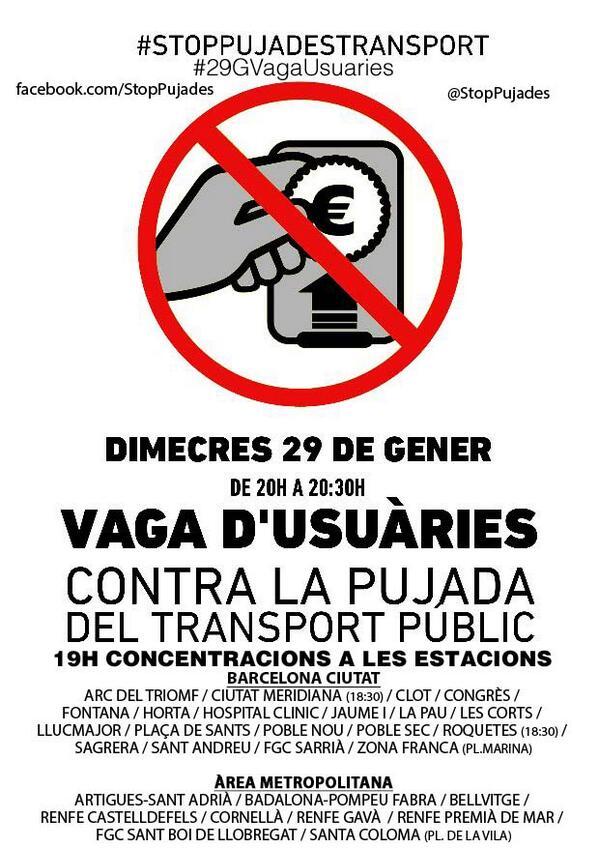 Cartell vaga usuàries i concentracions 29G