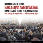Concentració Barcelona 17 gener suport Gamonal