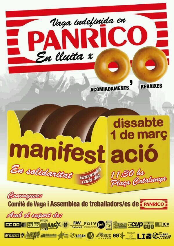 Manifestació Panrico 1 de març a Barcelona