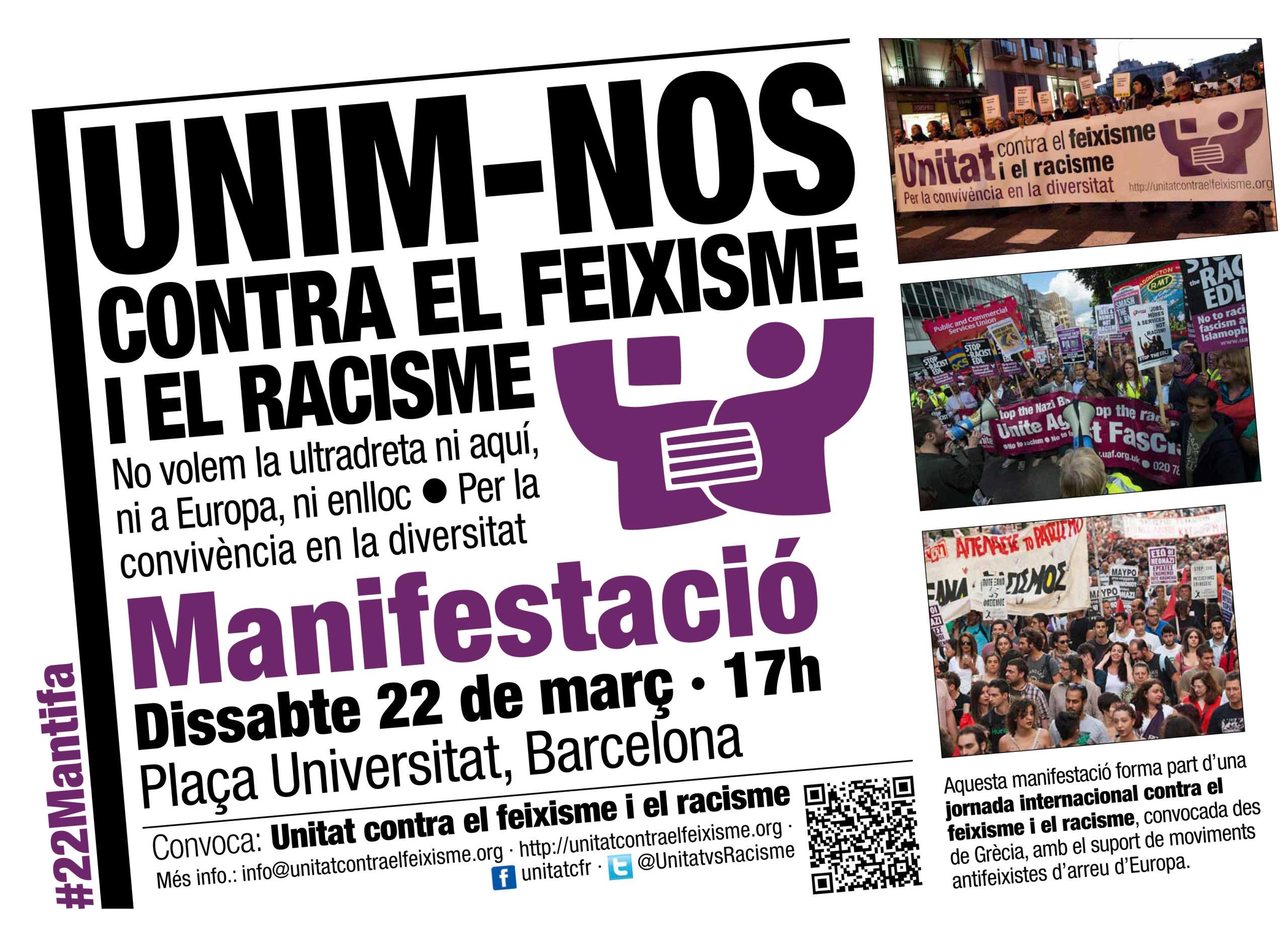 Cartell 22M a Barcelona