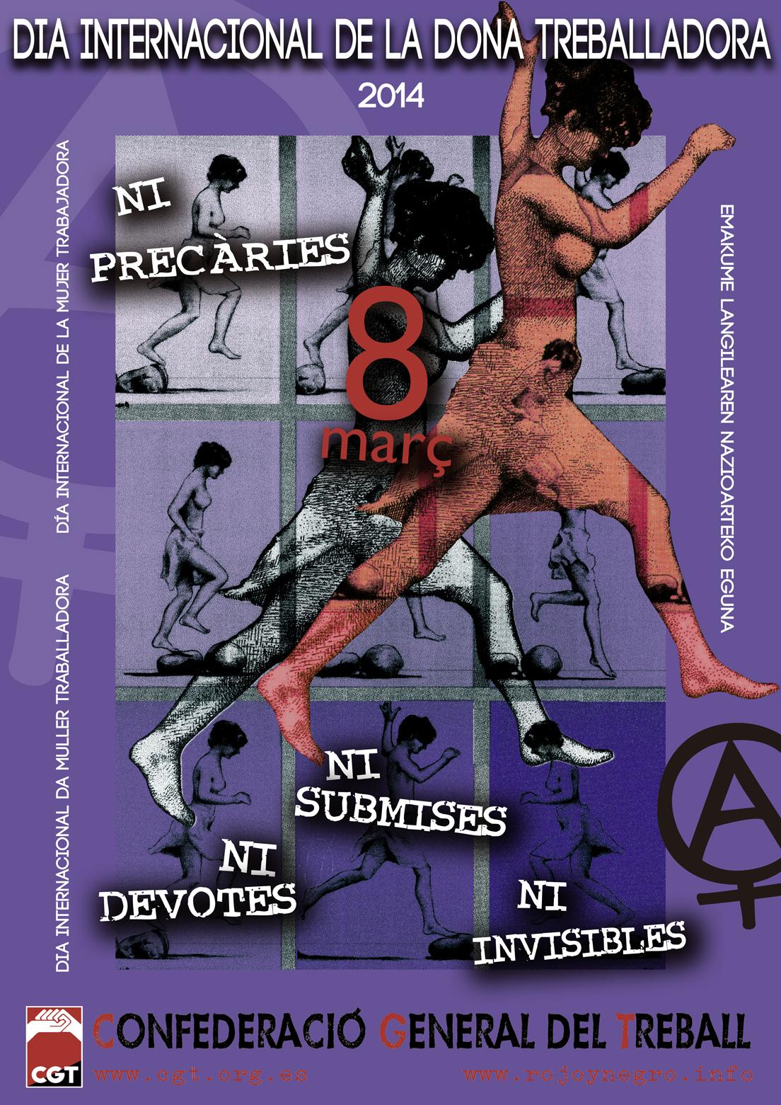 Cartell CGT 8 de març 2014