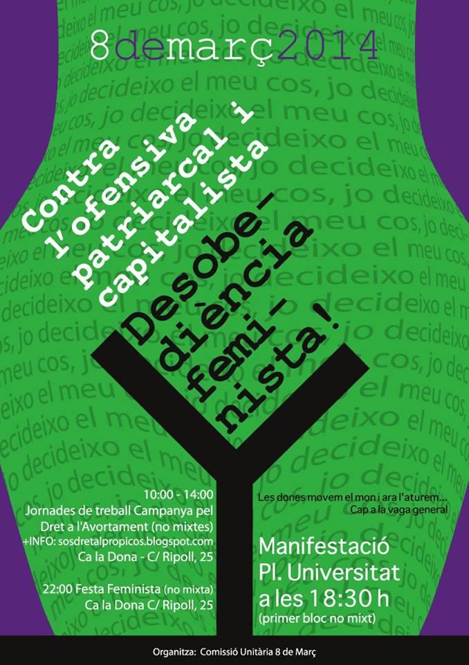 Manifestació 8 de març Barcelona