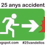 Logo campanya 25 anys accident Vandellòs I