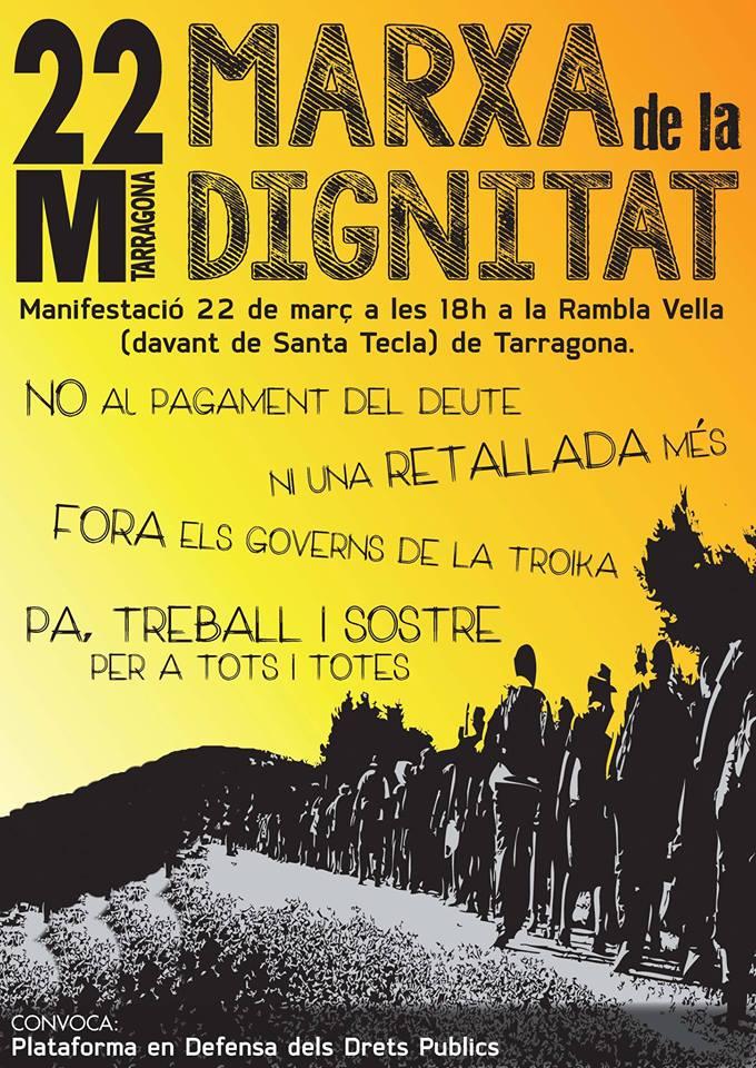 Manifestació 22M Tarragona