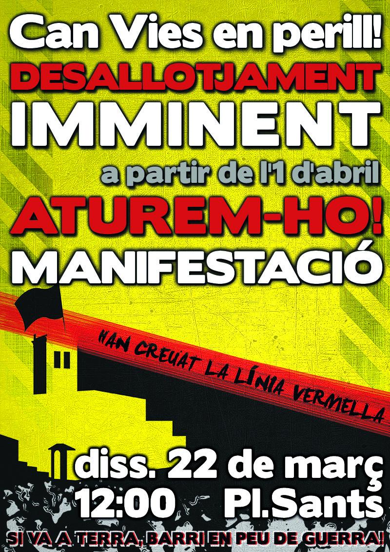 Cartell manifestació 22 març