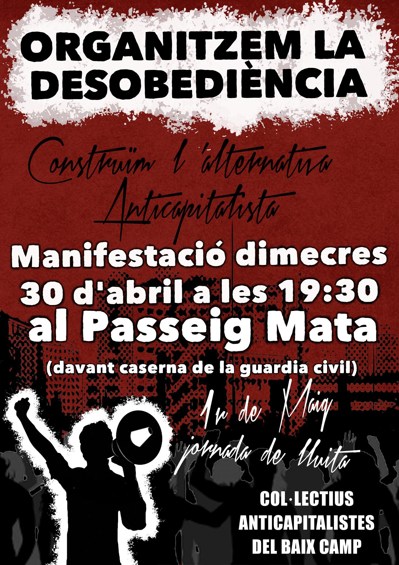 Manifestació 30 d'abril Reus