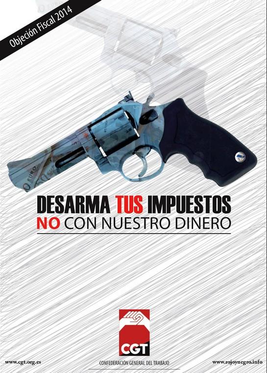 Cartell campanya objecció fiscal 2014 CGT