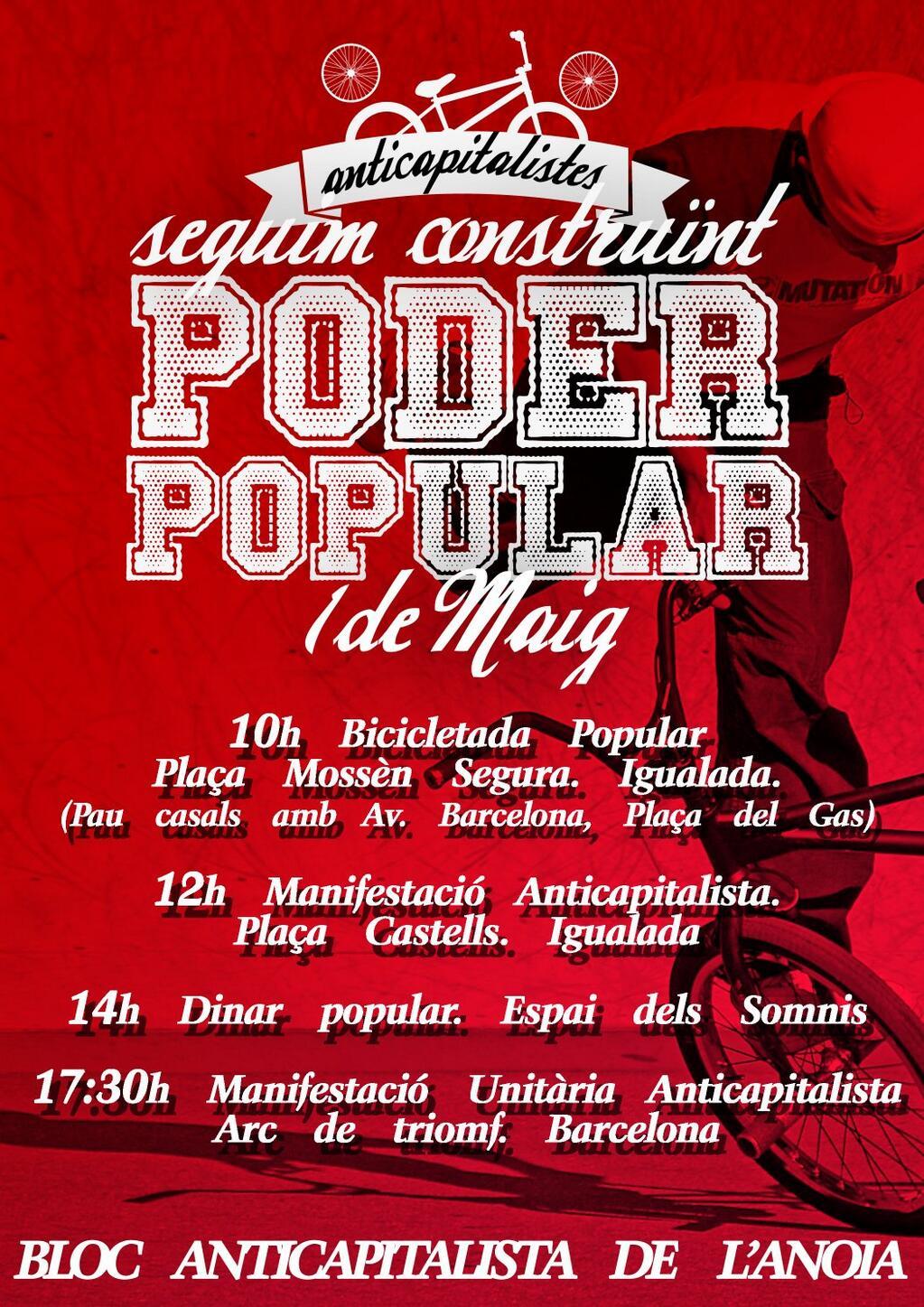 Cartell 1r de Maig Igualada