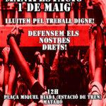 Mani 1 maig Mataró