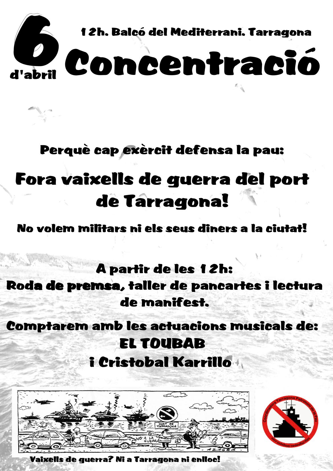 Cartell concentració 6 abril