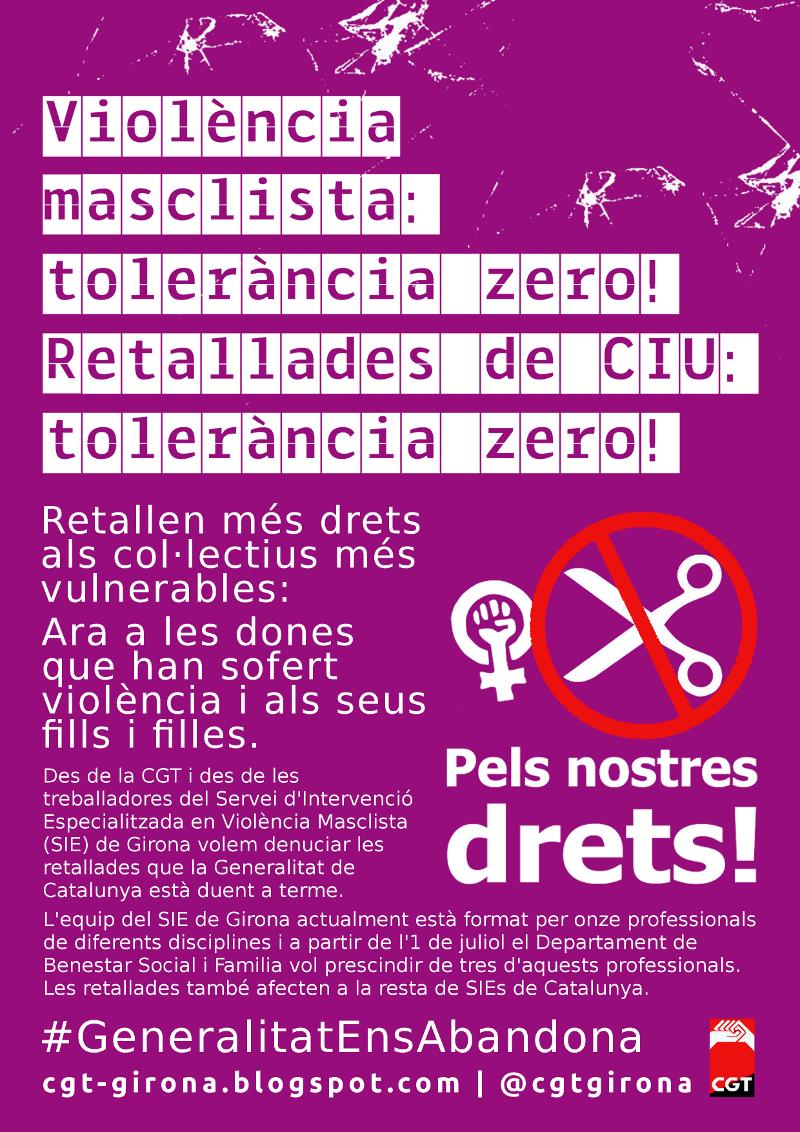 Cartell campanya tolerància zero
