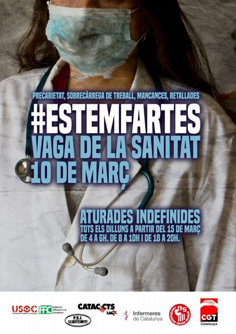 Drets laborals personals i col·lectius durant la vaga del 10M a Sanitat  (FAQS) – CGTCatalunya